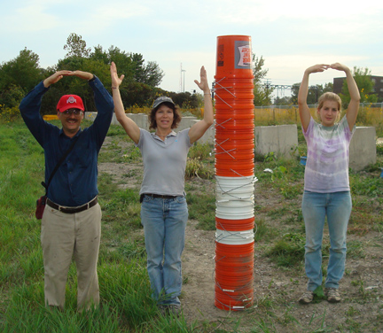 O-H I-O! The Buckeyes went to the Chicago to study whether biosolids and other amendments could restore soil and prairie vegetation.